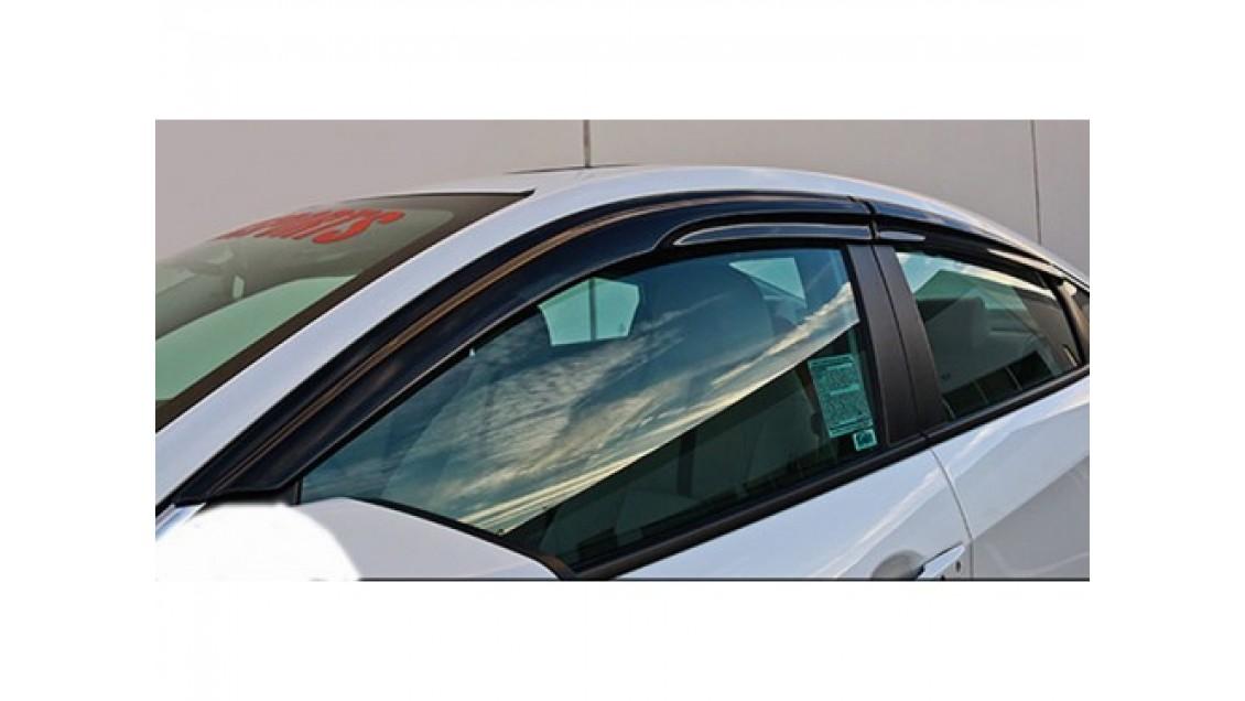 Déflecteurs de fenêtre latérale Mugen Honda Civic 4 portes 2016-21