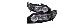 Lumières avant black housing Honda Civic 2006-11