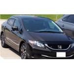 Déflecteurs de fenêtres latérale Honda Civic 4 portes 2012-15