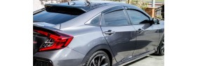 Déflecteurs de fenêtre latérale Honda Civic 4 portes 2016-19 H-Back  ( Avec Clips )