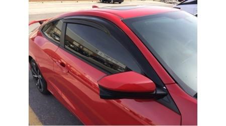 Déflecteurs de fenêtre latérale Mugen Honda Civic 2 portes 2016-19