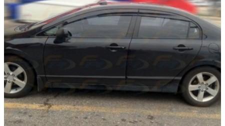 Déflecteurs de fenêtre latérale Mugen Honda Civic 4 portes 12-15