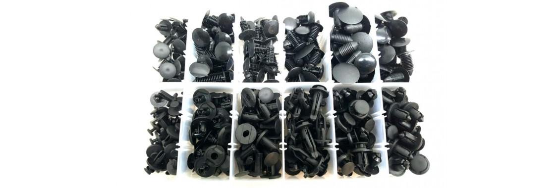 Kit de push pins à carrosserie universel 240 pièces