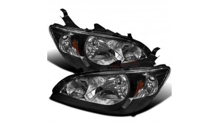 Lumières avant black housing Honda Civic 2004-05
