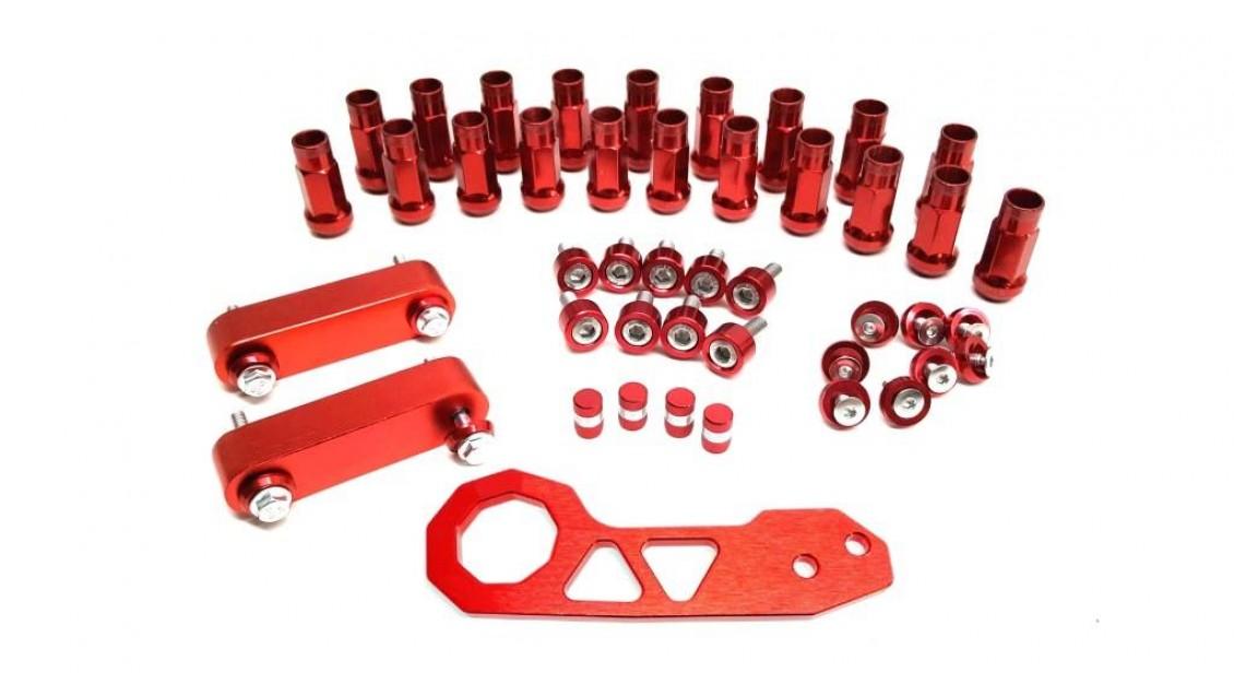 Combo Tow hook - Lugnut - Fender washer - Hood spacer - Header washer - Bouchon de valve